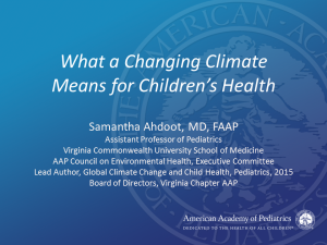 How Climate Change Affects Children' Health