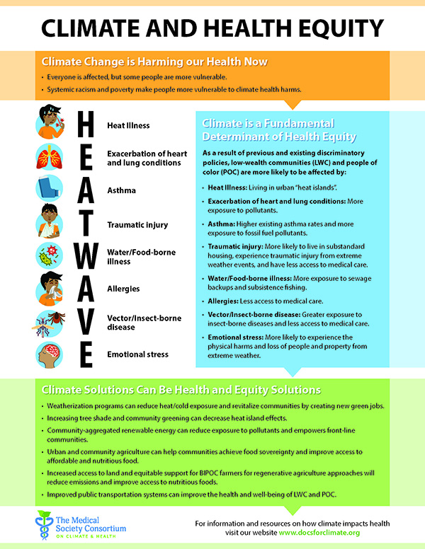 Climate and Health Equity Flyer
